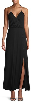 Miss Me Slit-Front Surplice Dress