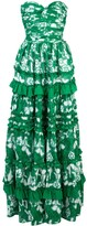 Alexis Tiered Ruffle Trim Dress