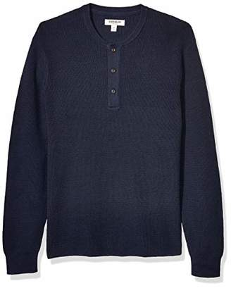 Goodthreads Amazon Brand Men's Soft Cotton Henley Sweater
