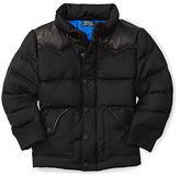 Ralph Lauren Leather-Yoke Down Jacket
