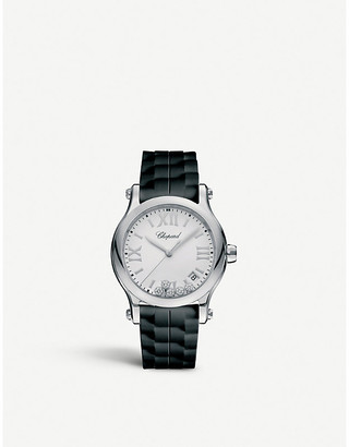 Chopard Happy Sport 36mm Quartz stainless steel and rubber watch
