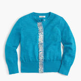J.Crew Girls' sequin-panel cardigan