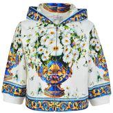 Dolce & Gabbana Child Girls Vaso Fiori Zip Hooded Jacket