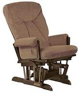 Shermag Espresso/Bella Coffee Extra-Wide Glider Recliner with Multiposition Lock