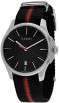 Gucci G-Timeless Collection YA126321 Men's Stainless Steel and Black Nylon Watch