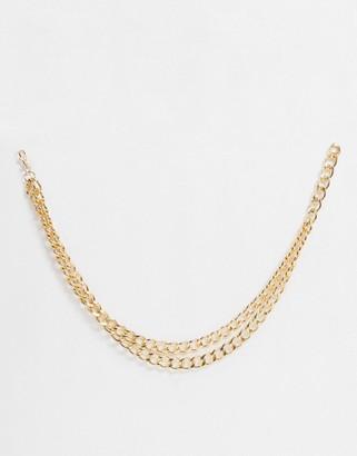 Pieces mellisa chain waist belt in gold