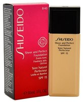 Shiseido Sheer and Perfect SPF 15 # B40 Natural Fair Foundation for Women, 1 Ounce by