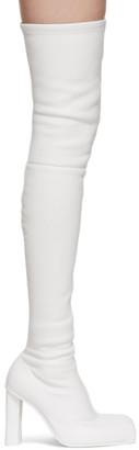Alexander McQueen White Over-The-Knee Peak Boots