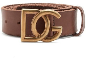 Dolce & Gabbana buckle Leather Belt - Brown