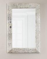 Interlude Aldo Small Metallic Hairhide Mirror
