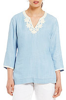 Tommy Bahama Chambray All Day Embroidered Tunic
