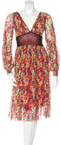 Jean Paul Gaultier Floral Print Midi Dress