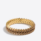 J.Crew Factory Crystal basketweave bracelet