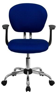 """Wayfair Basicsâ""""¢ Wayfair Basics Mesh Task Office Chair Wayfair Basicsa Upholstery Color: Blue Mesh, Arms: Yes"""