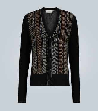 Wales Bonner Embroidered rib-knit cardigan