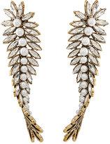 Balenciaga Women's Twisted Bay Leaf Earrings
