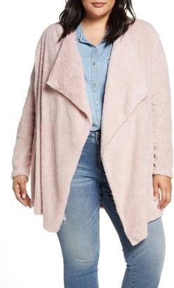 Gibson Teddy Bear Faux Fur Jacket (Plus Size)