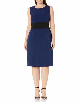 Kasper Women's Plus Size Colorblock Dress