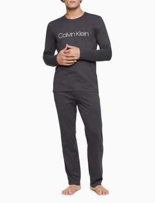 Calvin Klein Chill Heathered Logo Long Sleeve Tee