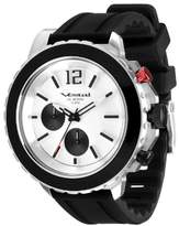 """Vestal Men's YATCS02 """"Yacht"""" Stainless Steel Watch with Black Rubber Strap"""