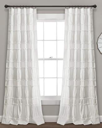 Triangle Home Fashion Nova Ruffle Window Curtain Panels