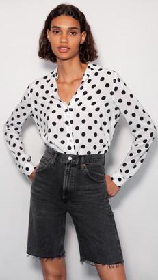 L'Agence Holly Long Sleeve Blouse