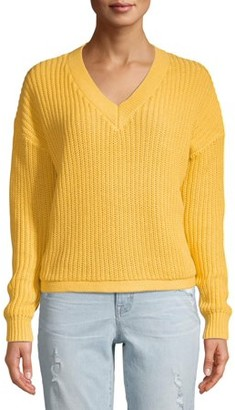 Time and Tru Women's V-Neck Shaker Pullover