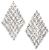 Nina Women's Crystal Mesh Drop Earrings