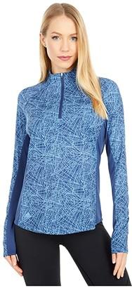 adidas AEROREADY UV 50+ Long Sleeve Polo Shirt (Tech Indigo) Women's Clothing