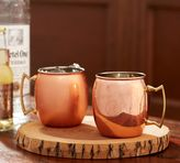 Pottery Barn Copper Moscow Mule Mug, Set of 2