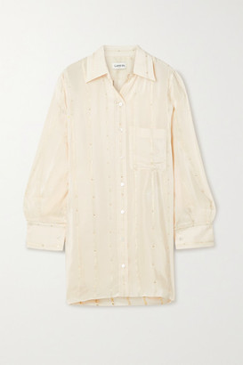 Lanvin Oversized Asymmetric Fil Coupe Crepe De Chine Shirt - Cream