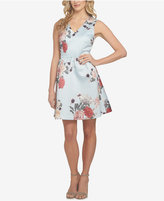 CeCe Rose Floral-Print Fit & Flare Dress