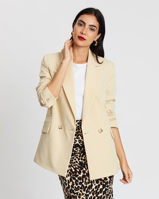 Topshop Double-Breasted Blazer