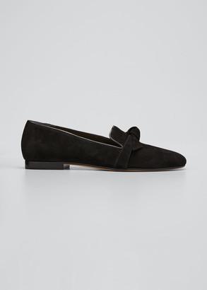 Alexandre Birman Clarita Suede Slip-On Loafers