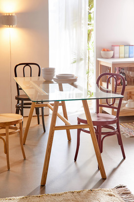 Urban Outfitters Harlan Glass Dining Table