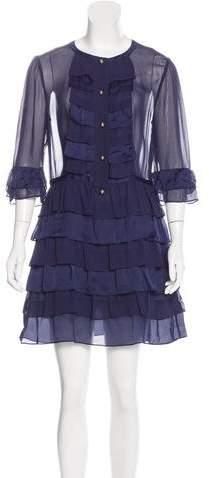 Temperley London Ruffled Silk Dress w/ Tags