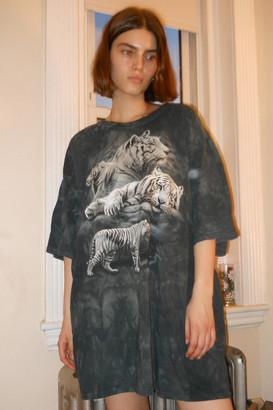 The Mountain Tiger Tie-Dye T-Shirt Dress