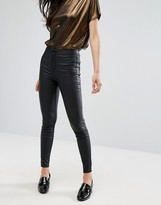 New Look Coated Super Skinny Jeans