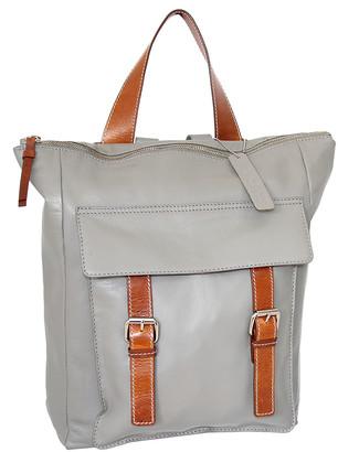Nino Bossi Handbags Women's Backpacks Stone - Stone Ainsley Leather Backpack