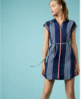 Express striped short sleeve shirt dress