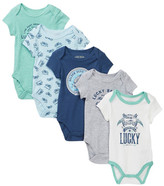 Lucky Brand Motorcycle Bodysuits - Pack of 5 (Baby Boys)