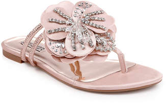 Badgley Mischka Laurie Flower Flat Sandals