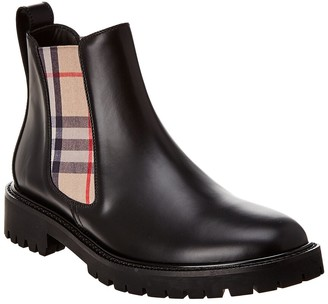 Burberry Vintage Check Leather Chelsea Boot