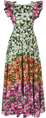 Mary Katrantzou Mixed Floral Print Maxi Dress