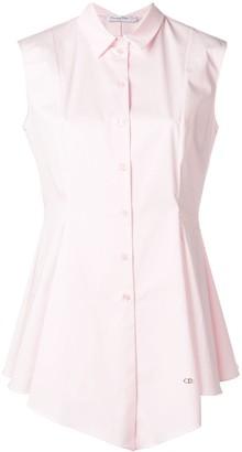 Christian Dior Pre-Owned flared asymmetric sleeveless shirt