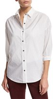 MiH Jeans Poets 3/4-Sleeve Shirt, Ink Stripe