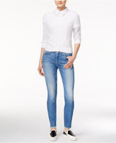 7 For All Mankind The Ankle Adelaide Bright Blue Wash Skinny Jeans