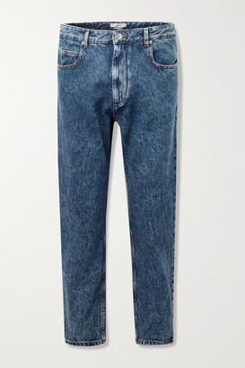 Etoile Isabel Marant Neasr Acid-wash High-rise Straight-leg Jeans