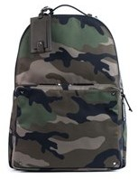 Valentino Brown Rockstud Camouflage Nylon Backpack.