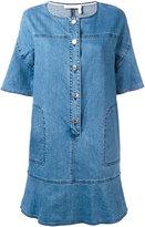 See by Chloe frill hem denim dress - women - Cotton/Spandex/Elastane - 34